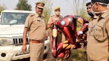 Iron Man balloon triggers fears of alien invasion in UP