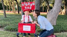 Toddler's kissing booth Halloween costume melts hearts everywhere