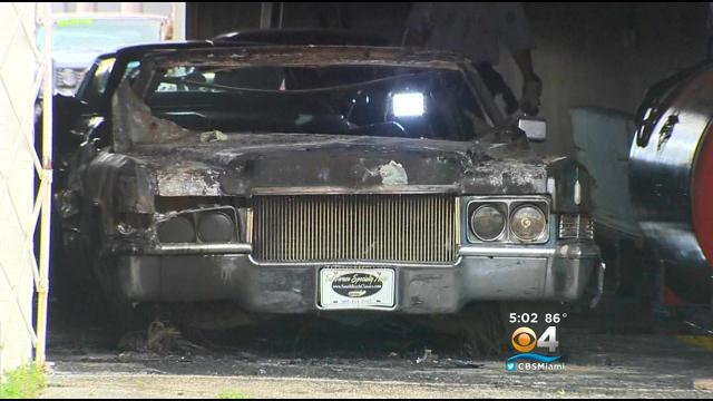 Classic Cars Damaged In NW Dade Warehouse Fire