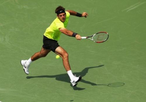 El tenista argentino Juan Martín del Potro, durante el partido contra el francés Jeremy Chardy, este viernes en Cincinnati.