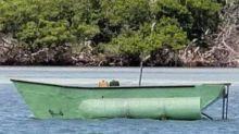Cuban migrants arrive on shore in the Florida Keys