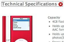 Apple brings (a little) web 2.0 to iPod nano RED site