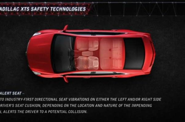 Cadillac focuses on safety with vibrating drivers' seats, other accident avoidance tech (video)