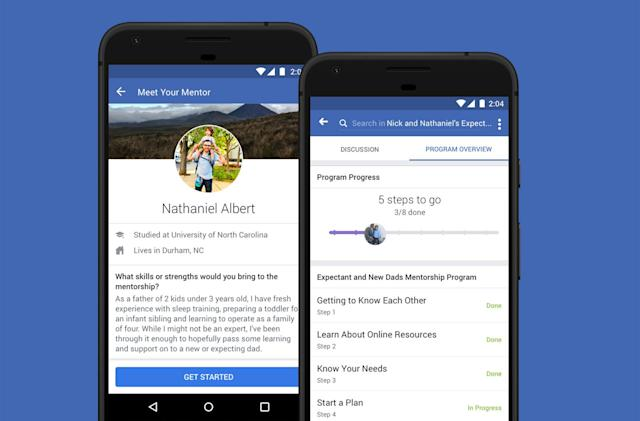 Facebook's new Groups tool connects members to mentors