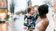 Little girl mistakes bride for a real-life princess, and the photos are adorable