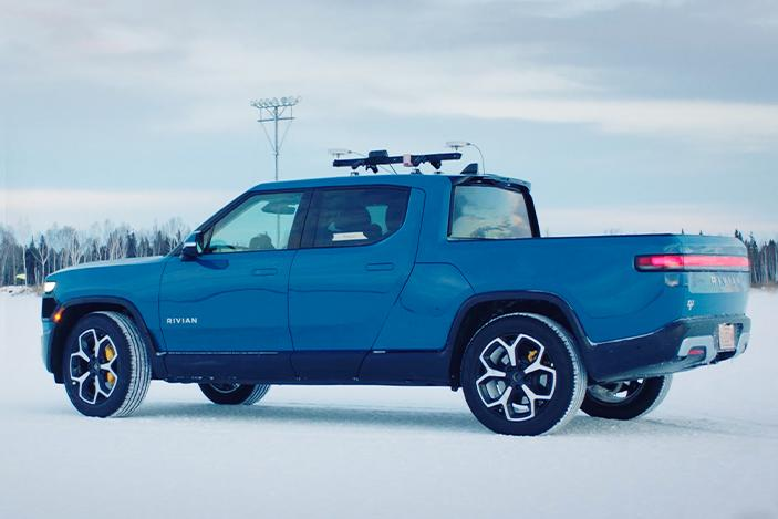 Watch Rivian test its R1T electric truck in extreme cold weather