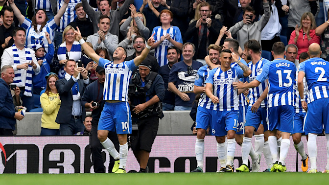 Reason to celebrate: Brighton bests Newcastle
