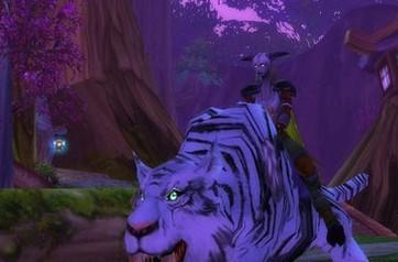 Draenei on a tiger at level 30