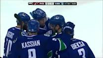 Canucks score two goals in 44 seconds