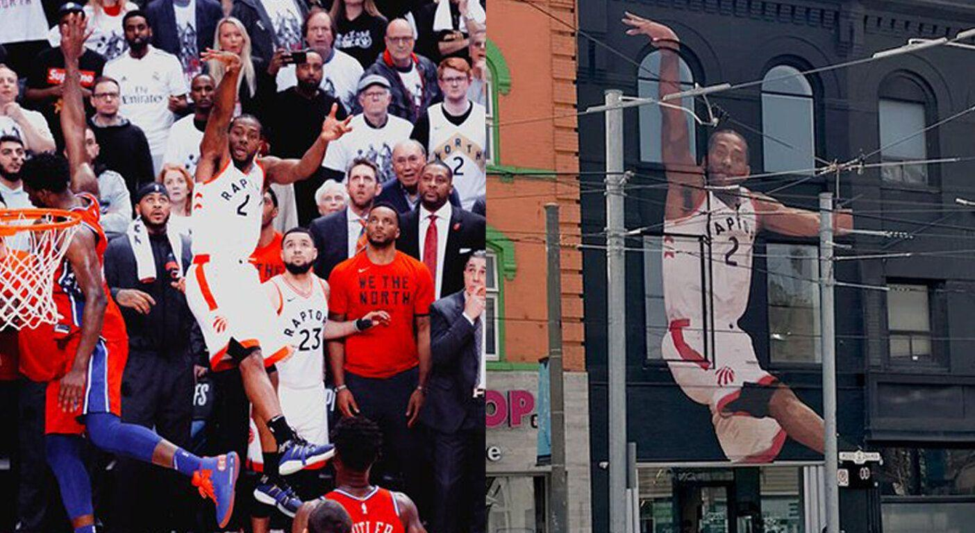 New Mural Of Kawhi Leonard Depicts Iconic Game 7 Winner