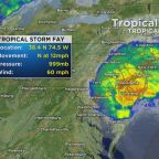 Tropical Storm Fay Causes Flooding In Ocean City, Maryland