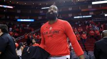 James Harden hits the club after Houston's season-ending, 39-point loss