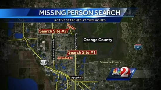 Deputies search homes in missing person's case