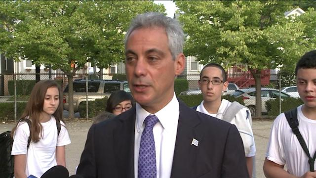 RAW: Mayor Rahm Emanuel on 1st day of school