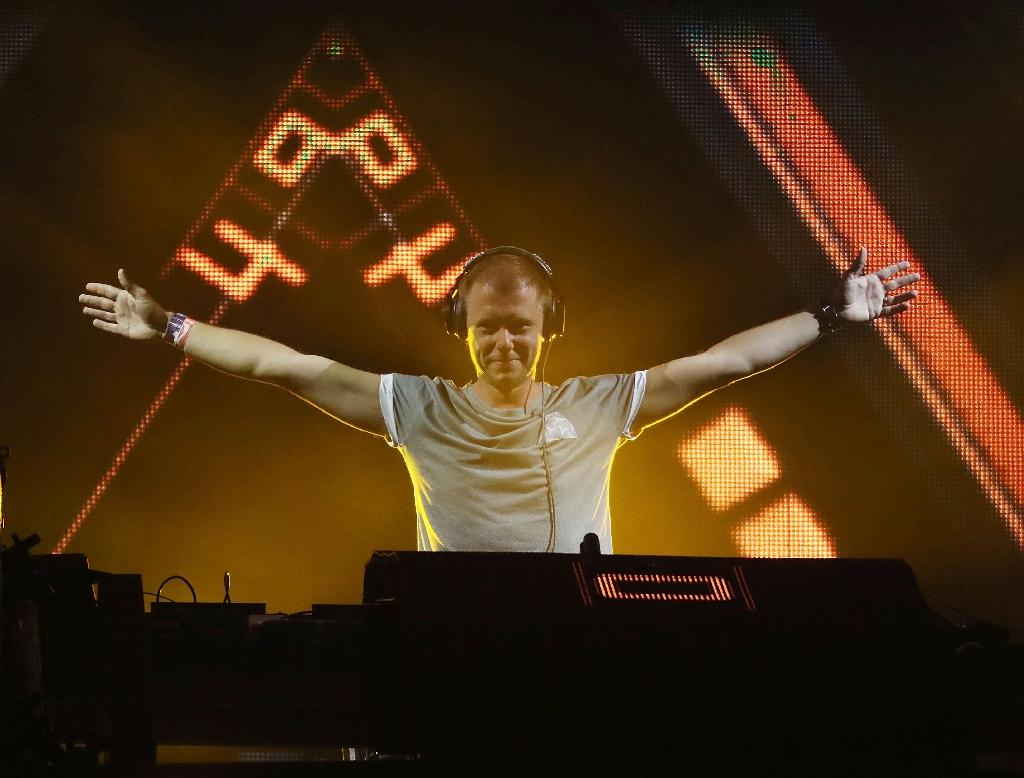 One of the top names in trance music, Dutch DJ Armin van Buuren - here at a 2016 event in Miami - is one of the top name disc jockeys invited to the February 7 zero gravity party aboard a modified Airbus A310 (AFP Photo/Aaron Davidson)