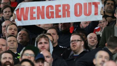'Wenger out' banner spotted almost 12,000 miles away from Arsenal home at New Zealand World Cup qualifier