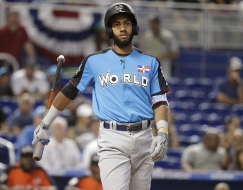 Top prospect Amed Rosario represented the Mets at the Futures Game in Miami. (AP)