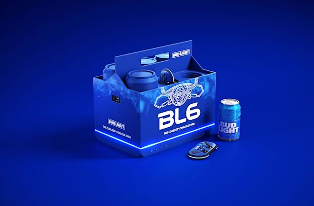 Bud Light put a PC and a projector inside a six-pack, for charity