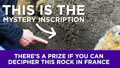 There's a prize if you can decipher this rock in France