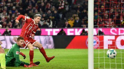 Lewandowski strikes as Bayern open nine-point gap