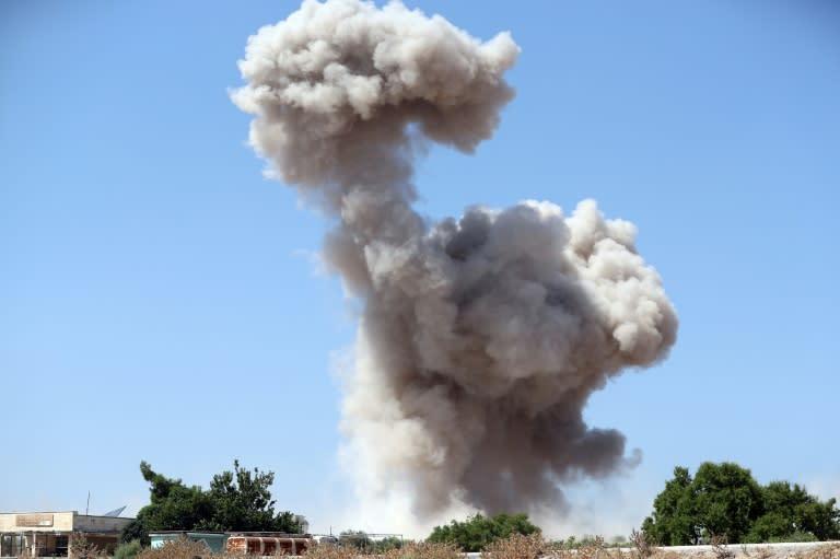 Idlib is dominated by jihadist group Hayat Tahrir al-Sham, Syria's former Al-Qaeda affiliate (AFP Photo/Omar HAJ KADOUR)