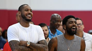 It sounds like Kyrie might want Melo in Boston