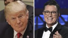 Stephen Colbert buys 'For Your Consideration' billboard for Donald Trump's Dishonest Media Awards
