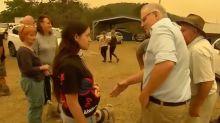 Mum who refused PM's handshake living in van months after bushfires