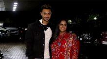 Salman Khan's Sister Arpita & husband Ayush at Sohail Khan's home for Ganpati Celebration