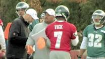 Eagles' QB Vick, RB McCoy back at practice