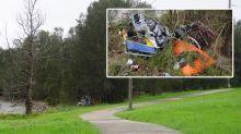 'Disgraceful': Man slams dumpers after huge pile of rubbish left next to walking track