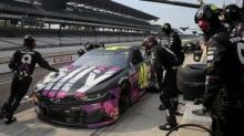 Justin Allgaier's fill-in drive for Jimmie Johnson ends in early wreck at Brickyard