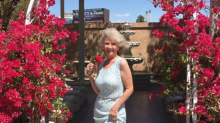 This 70-year-old got married in Vegas in her granddaughter's prom dress
