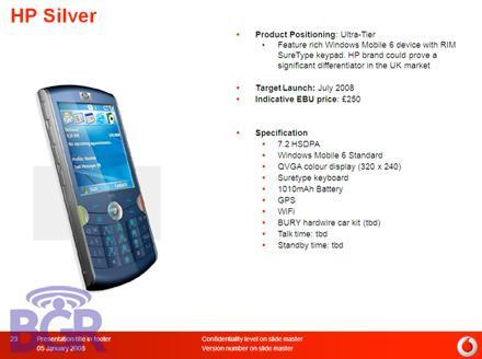 "HP's Pearl -- er, ""Silver"" smartphone"