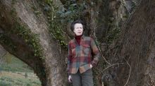 The Princess Royal at home: Anne pictured at Gatcombe Park to mark 70th birthday