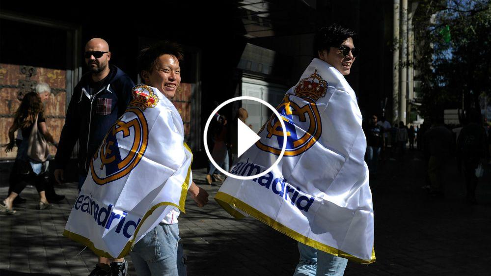 VÍDEO: Así se vivió el recibimiento de la afición del Real Madrid desde dentro del autobús