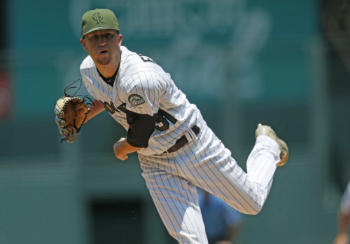Rockies pitcher Kyle Freeland nearly tossed a no-hitter in his 18th career start. (AP Photo)
