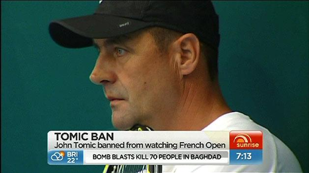 John Tomic banned from French Open