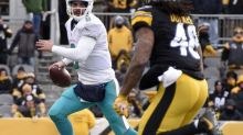 Dolphins QB Matt Moore got obliterated on illegal hit by Steelers LB Bud Dupree