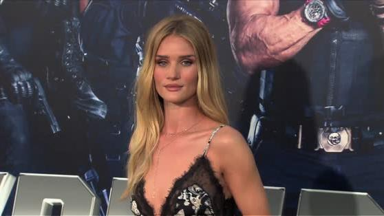 Rosie Huntington-Whiteley steals the show at The Expendables 3 premiere