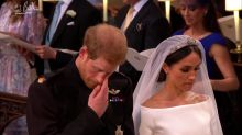 Prince Harry moved to tears during mother's favourite hymn