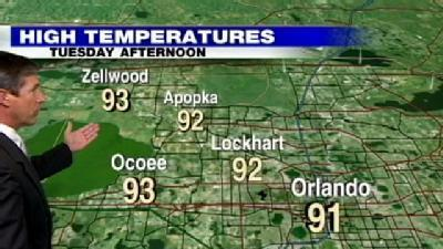 Scattered Storms Expected Tuesday