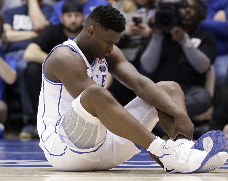 04c6d805c271 Nike slammed after Zion Williamson rips through shoe  Video