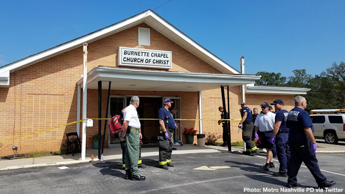 1 dead, 7 wounded in Tennessee church shooting