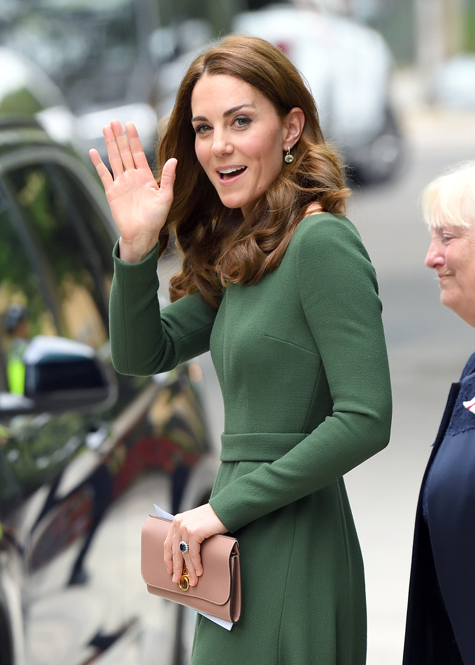 LONDON, ENGLAND - MAY 01: Catherine, Duchess of Cambridge departs after officially opening the new Centre of Excellence at Anna Freud Centre on May 01, 2019 in London, England. The Duchess of Cambridge is Patron of the Anna Freud National Centre for Children and Families.  (Photo by Karwai Tang/WireImage)