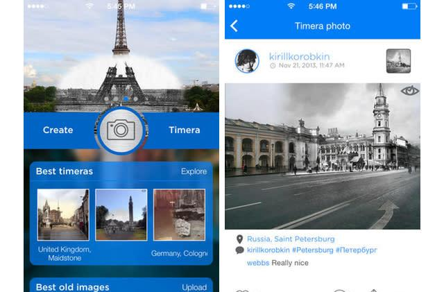 Timera lets you create time machine-inspired photos using your iPhone