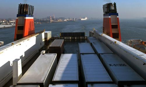 Dozens of migrants found in refrigerated container on ferry