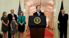 Kavanaugh seeks new tone after bitter court confirmation fight