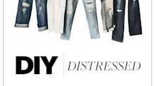 How to Distress Your Own Jeans & Save $1,195