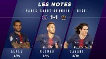 PSG-Nice (1-1) : Les notes des Parisiens
